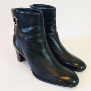 Naturalizer Bootie Heel Black Soft Leather 9 N